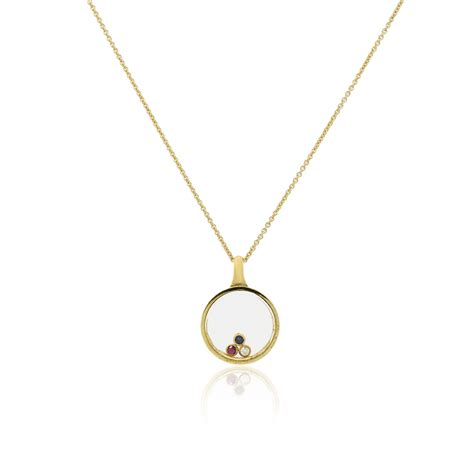 pendant necklace 14k gold floating gemstone pendant necklace