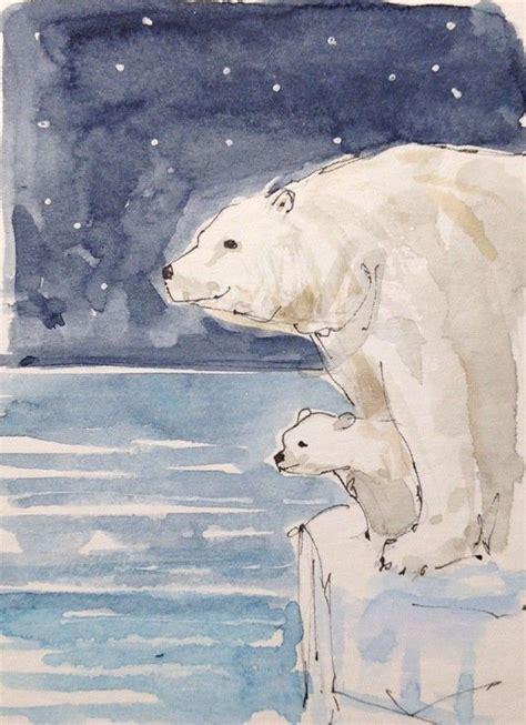 polar bear drawing ideas  pinterest polar
