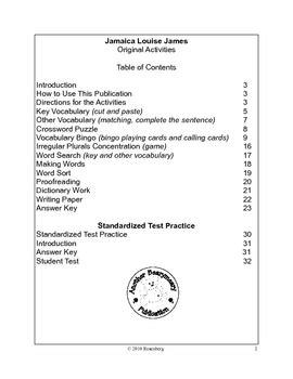 jamaica louise james activities  test practice  mary