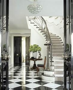 Striking, Monochrome, Foyer, Hallway
