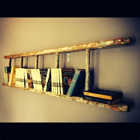 Wall Hung Bookshelf by Ladder Hung On Wall For A Bookshelf Ladders Home