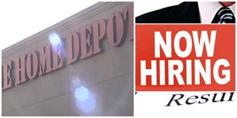 hiring home depot hiring  people