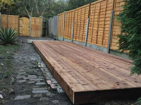 Laying Decking On Patio Slabs