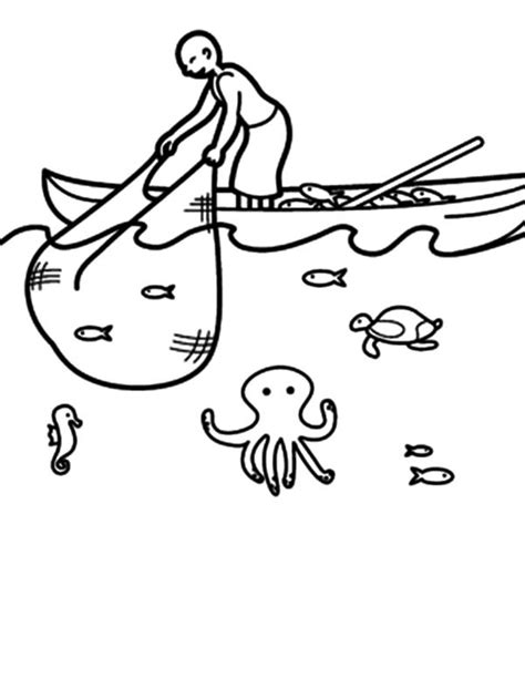 Big Boat Coloring Pages by Fishing Boat Fishing Boat Catching Fish With Net