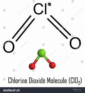 Formula And Structure Of Chlorine Dioxide Molecule  Clo2