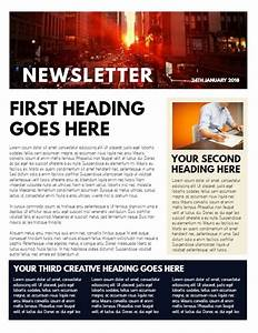 Online Cover Letter Template Professional Newsletter Sample Click To Customize