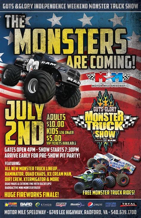 tickets for monster truck show 1000 images about upcoming events in the new river valley