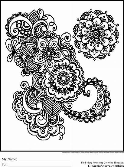 Coloring Pages Intricate Swirl Geometric Difficult