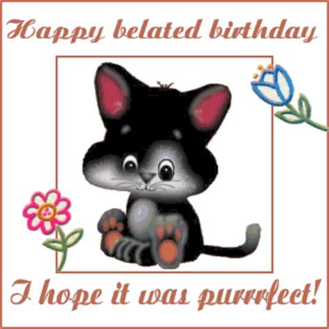 image happy belated birthday 25 belated birthday animated glitter gif images