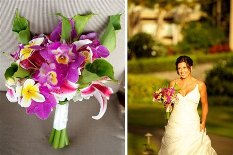 purple maui wedding bouquets images  pinterest
