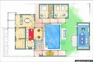 plan de maison avec piscine intrieure elegant maison With plans de maison gratuit 9 maison contemporaine avec piscine interieure apla