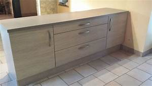 meuble xixe ilot double face cuisine occasion lisle clasf With meuble occasion