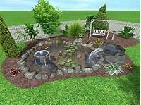 backyard landscape plans Best Design. New Country Landscaping Ideas: Hill Side Diy ...