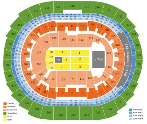 Staples Center Seating Chart And Tickets (formerly