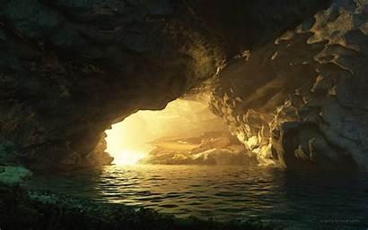 Cave Dragon Water Fantasy Wallpapers Desktop Background