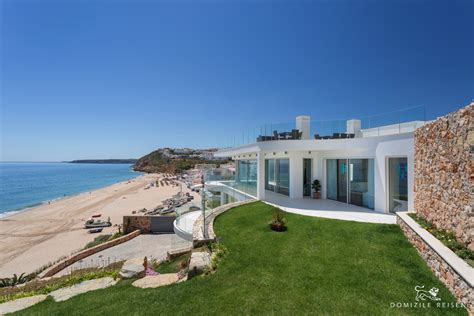 luxusvilla direkt  sandstrand mit pool algarve portugal