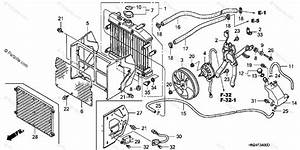 Honda Atv 2003 Oem Parts Diagram For Radiator