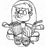 Clipart Boy Coloring Cartoon Movies Snacks Outline Watching Snack Clip Pages Drawing Clipartpanda Vector Ron Terms Leishman Weclipart Cliparts sketch template