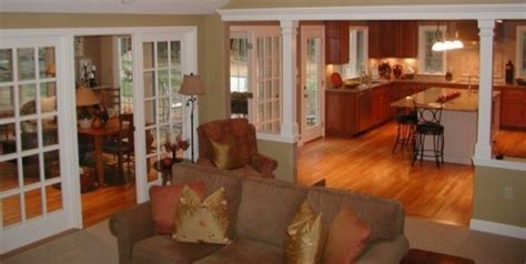 Like the division between kitchen and family room.   Great