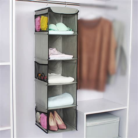 Wardrobe Closet For Hanging Clothes by 5 Cubes Wardrobe Storage Hanger Hanging Closet Organizer