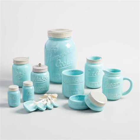 Mason Jar Ceramic Cookie Jar   World Market
