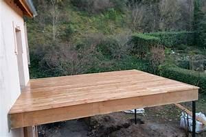 terrasse suspendue en bois bedarieux une realisation With terrasse en bois suspendue