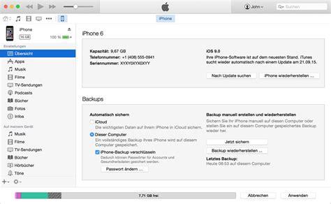 itunes backup iphone erstellen ger 228 te backups mit icloud oder itunes
