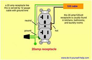 Wiring Diagram For A 20 Amp 120 Volt Receptacle