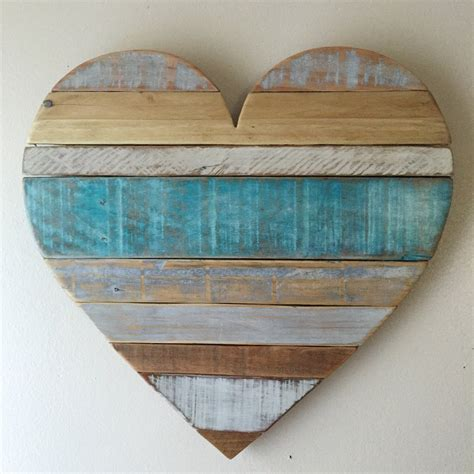 Check out our rustic beach wall decor selection for the very best in unique or custom, handmade pieces from our wall hangings shops. Medium rustic striped turquoise heart beach wall decor
