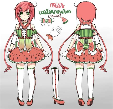 Say I Love You Anime Wallpaper Miss Watermelon Suika Reference Sheet 2 By Saphirya On Deviantart