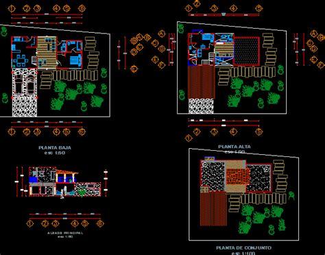 bungalow  dwg design section  autocad designs cad
