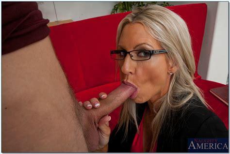 Blonde Milf In Glasses Emma Starr Sucks And Fucks A Huge