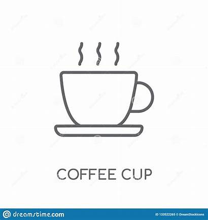 Coffee Cup Outline Icon Linear Concept