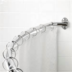 zenith products curved shower rod stainless steel