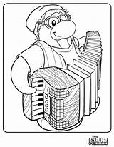Penguin Club Coloring Accordion Stuff Test Petey Cool Issue Times Band Honest Player sketch template