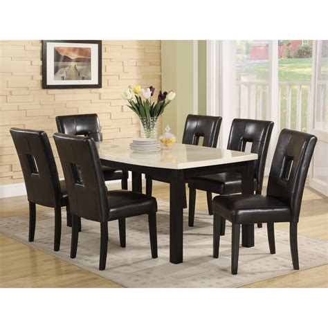 awesome 7 black dining set 3 black marble dining