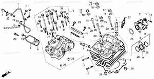 Honda Atv 1985 Oem Parts Diagram For Cylinder Head
