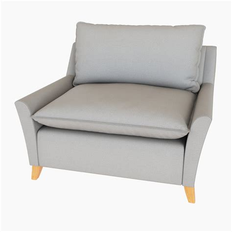 west elm bliss filled chair and a half 3d model cgstudio