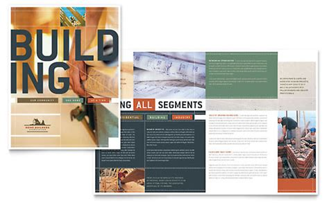 home builders construction brochure template word