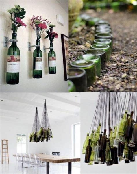 reciclaje manualidades hechas  botellas de vidrio