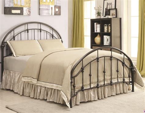 eastern king mattress iron beds and headboards metal curved bed coaster 300407