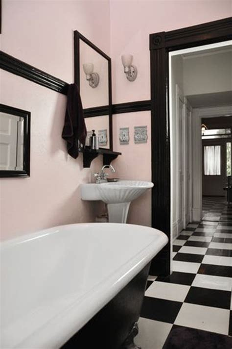 Vintage Black And White Bathroom Ideas by 31 Retro Black White Bathroom Floor Tile Ideas And Pictures