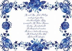 Wedding invitations view all invitations delft for Delft blue wedding invitations