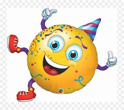 Party Smiley Face Emoji Birthday Emoticon Balloon