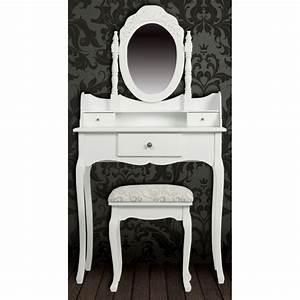 Meuble coiffeuse avec miroir pas cher achat table de for Meuble coiffeuse avec miroir pas cher