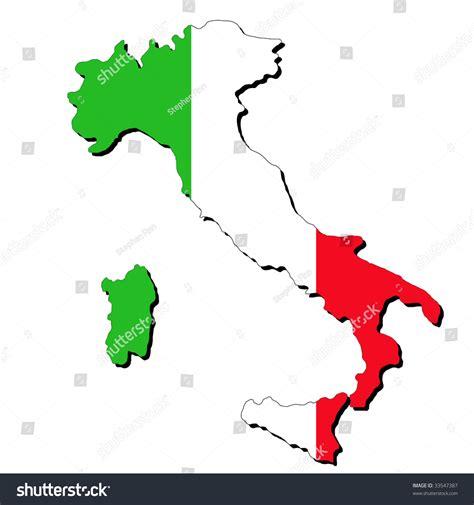 italy map flag stock vector map italy italian flag illustration jpeg stock ital