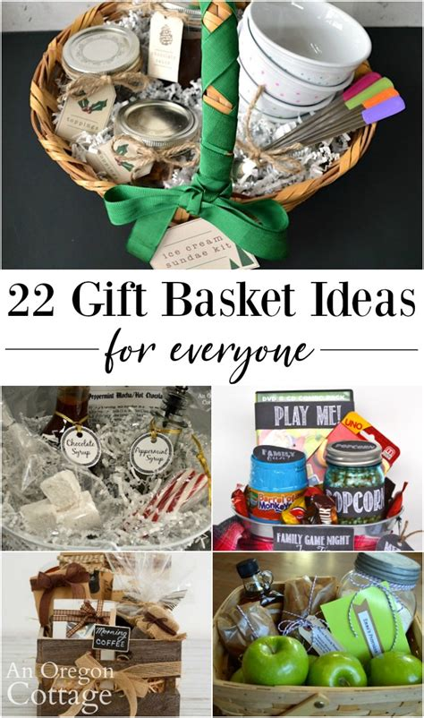 .how to make beautiful homemade gift baskets or have a large running list of basket themes and gift ideas bookworm (books, bookmarks, gourmet coffee or tea, snacks, online bookstore gift card). 22 DIY Gift Basket Ideas for Everyone   An Oregon Cottage