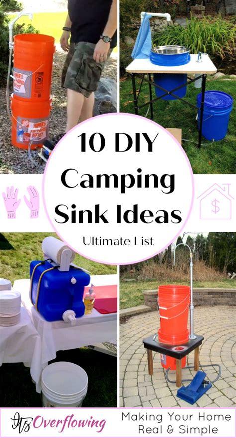 diy camping sink ideas    easily