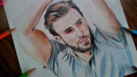 Portrait of Chris Evans (captain America ) marvel drawing ...