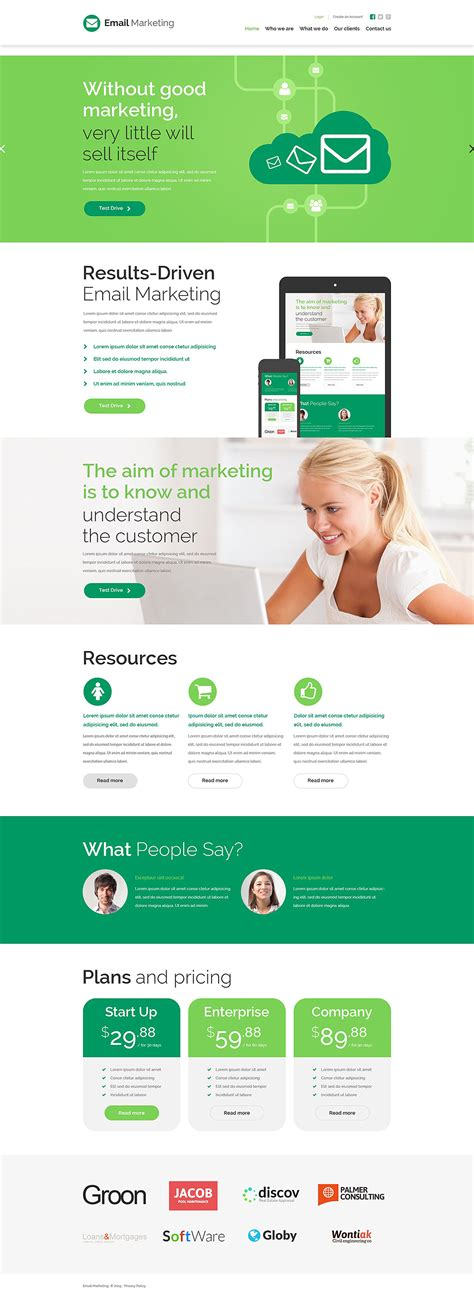 marketing websites marketing agency website template
